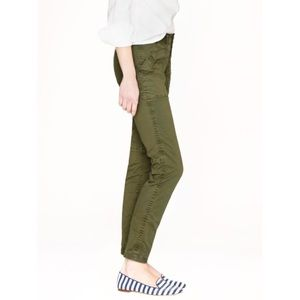 J. Crew Green Skinny Washed Twill Utility Pant 28